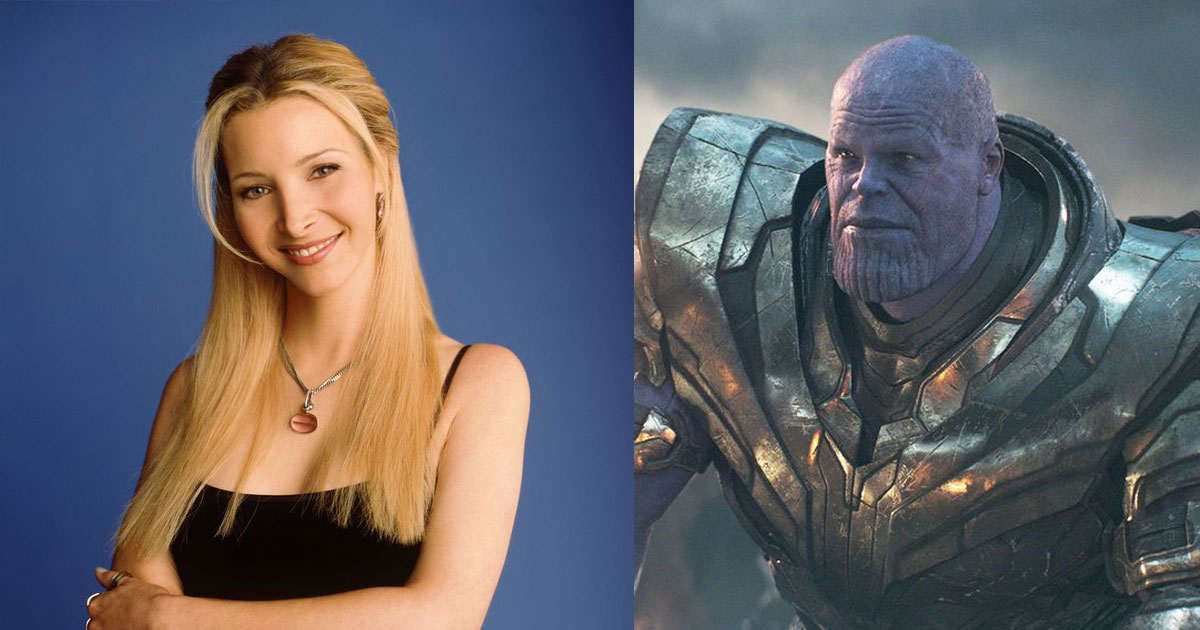 A FRIENDS Fan Club Has Posted This Hilarious Crossover Post Of Phoebe, Chandler & Thanos.