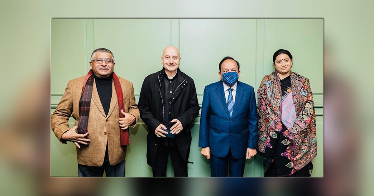 Anupam Kher Share Pictures With Health Minister Harsh Vardhan