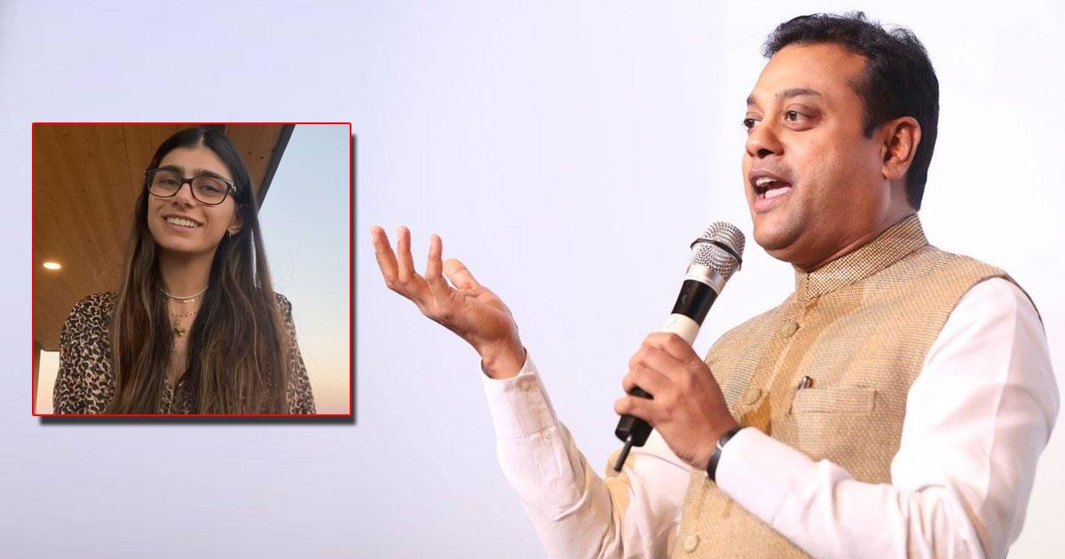 "BJP's Sambit Patra Trolls Opposition Leader Saying ""Ye Toh Mia Khalifa Ke Bhakt Hai"" On Live Television"