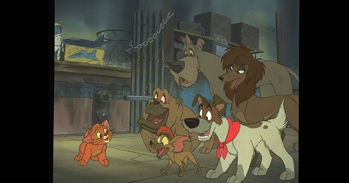A Still Of Oliver From Oliver & Company
