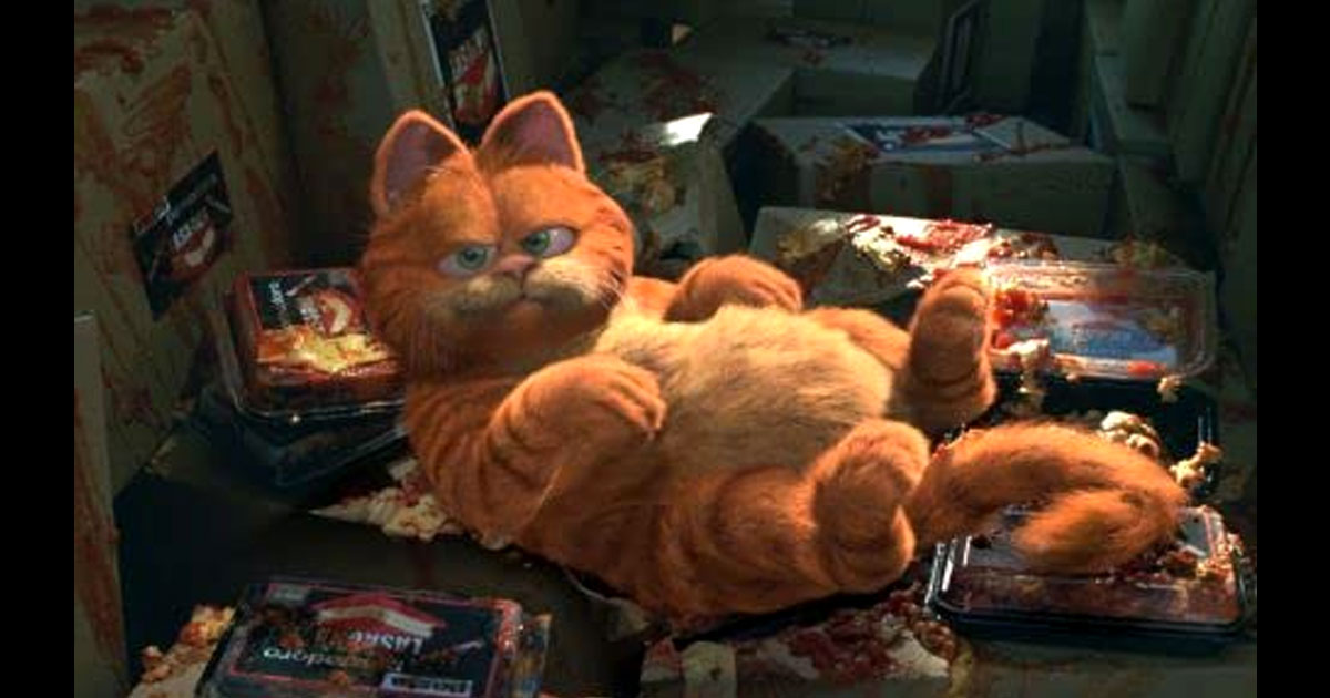 A Still Of Garfield From The Movie Of The Same Name