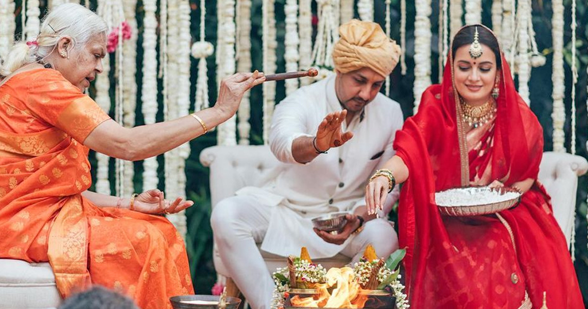 Dia Mirza Hailed by Fans After Her Wedding With Vaibhav Rekhi Conducted By A Female Priest