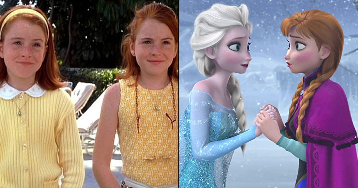 Elsa & Anna In Frozen, Lindsay Lohan's Twin Role In The Parent Trap – 5 Time Disney Set #SiblingGoals!
