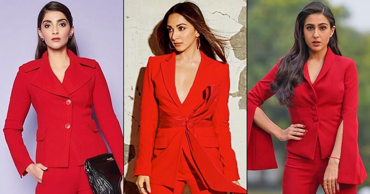 Sara Ali Khan Vs Kiara Advani Vs Sonam Kapoor – Fashion Face-Off: Who Rocked The Red Pant Suit Better? Vote Now