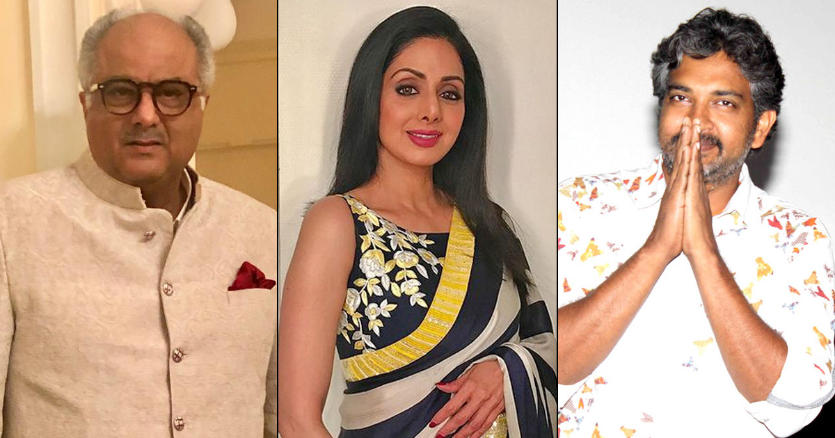 SS Rajamouli & Boney Kapoor To Clash Once Again After They Fought For Sridevi's Casting In Baahubali