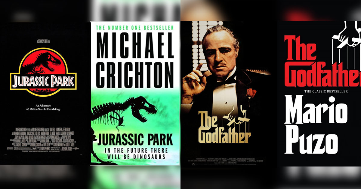 Jurassic Park (1993), The Godfather (1972) & Other Hollywood Classics That Are Based On Novels