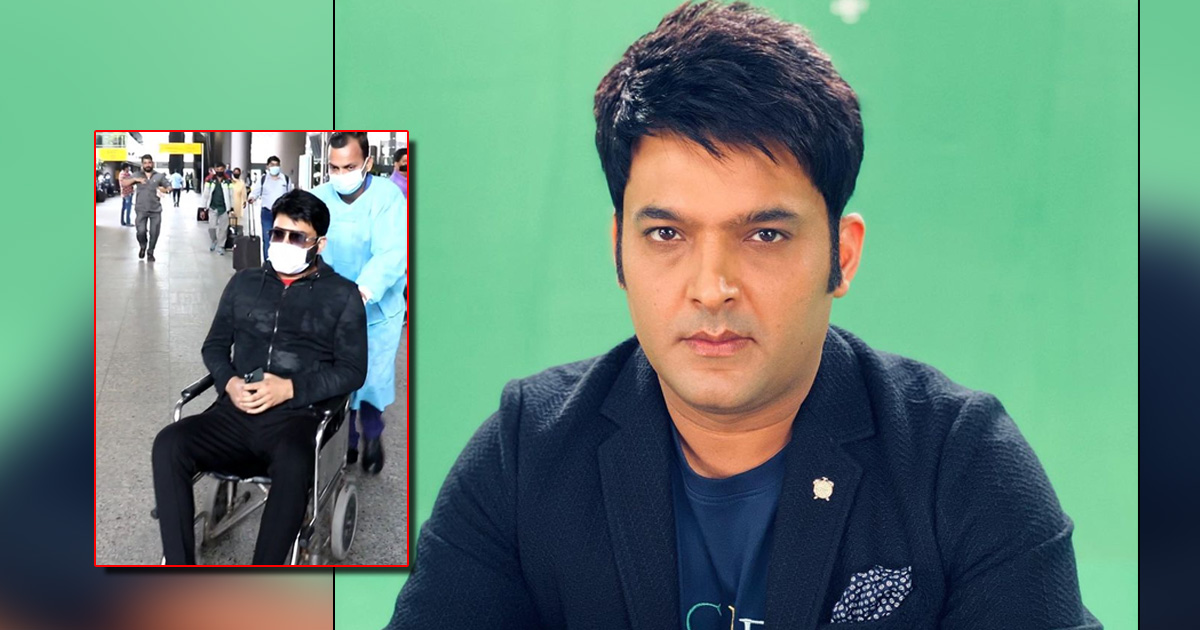 """Kapil Sharma Spotted In A Wheel-Chair At The Airport, Behaves Rude With Paps Says, """"Ullu Ke Patthe"""" - See Video"""