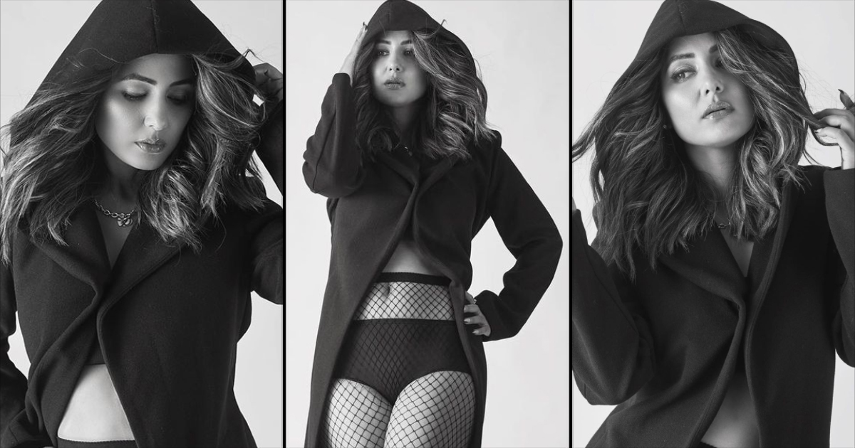 Kasautii Zindagii Kay Fame Hina Khan In A Fishnet Stocking Goes Monochrome Adding An Eternal S*x-Appeal To It, See Pics
