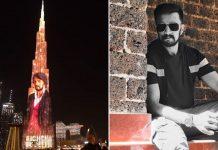 Kichcha Sudeepa toasts 25 years in films at Burj Khalifa, launches title logo of latest
