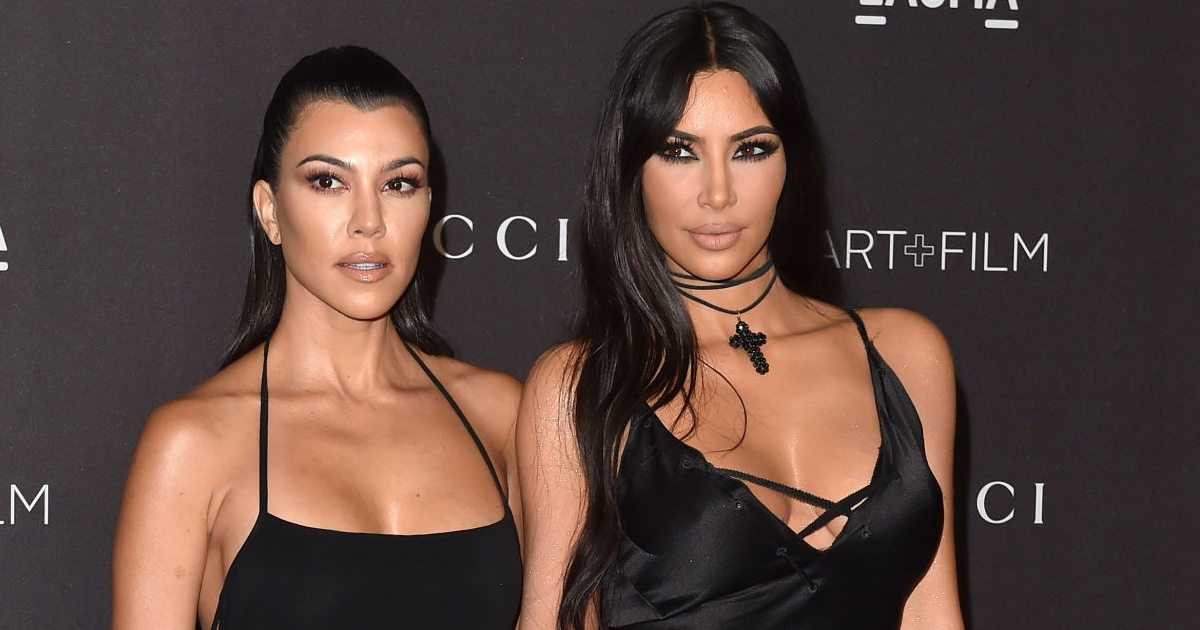 Kim and Kourtney, two of a kind share two-piece thunder