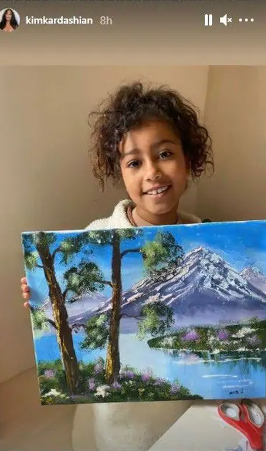 Kim Kardashian Lashes Out At Trolls For Questioning The Authenticity Of North's Painting, Read On