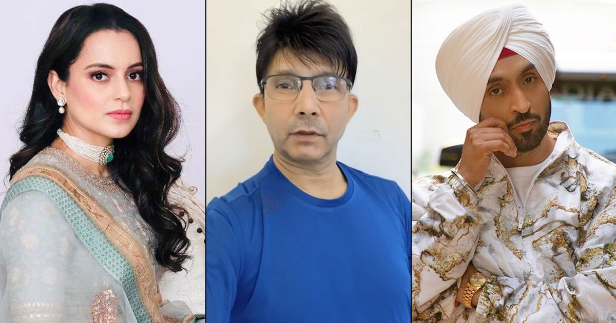 """KRK Hits It Out Of Park On Diljit Dosanjh Vs Kangana Ranaut War: """"Don't Use My 2 Rs. People Dialogue"""""""