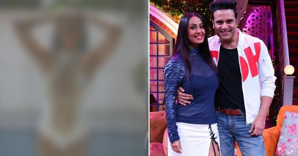 Krushna Abhishek Is Drooling Over Kashmera Shah's Monokini Look