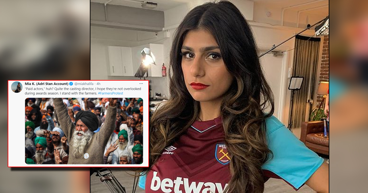 Mia Khalifa Comes Forward In Support Of The Farmers' Protest, Check Out
