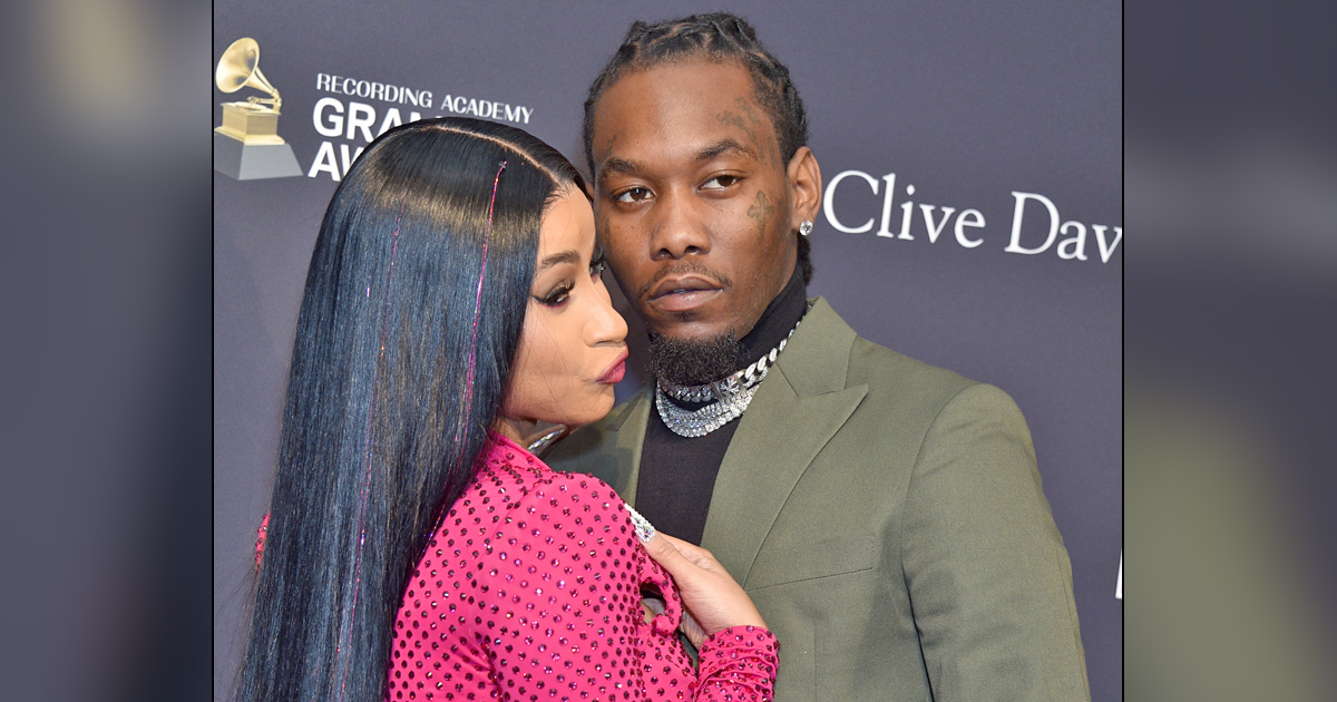 Offset Takes Cardi B & Daughter Kulture To A 'Paradise' For Valentine's Day
