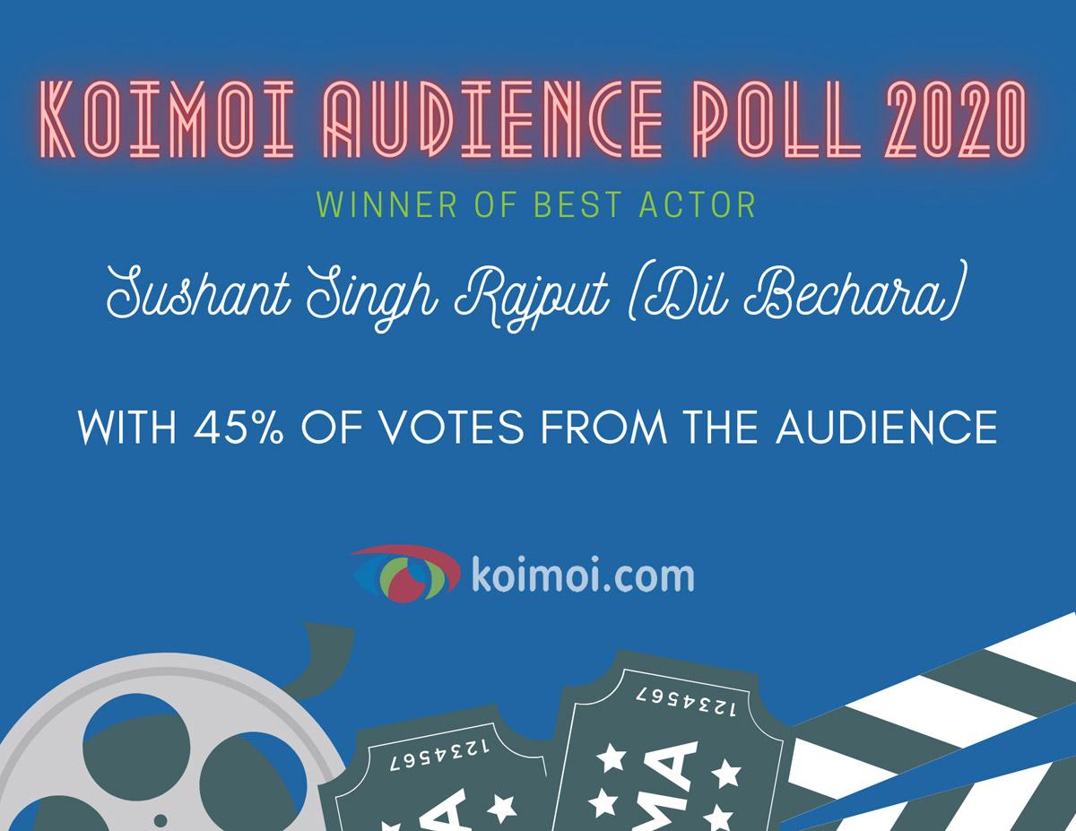 Result Of Koimoi Audience Poll 2020: Sushant Singh Rajput