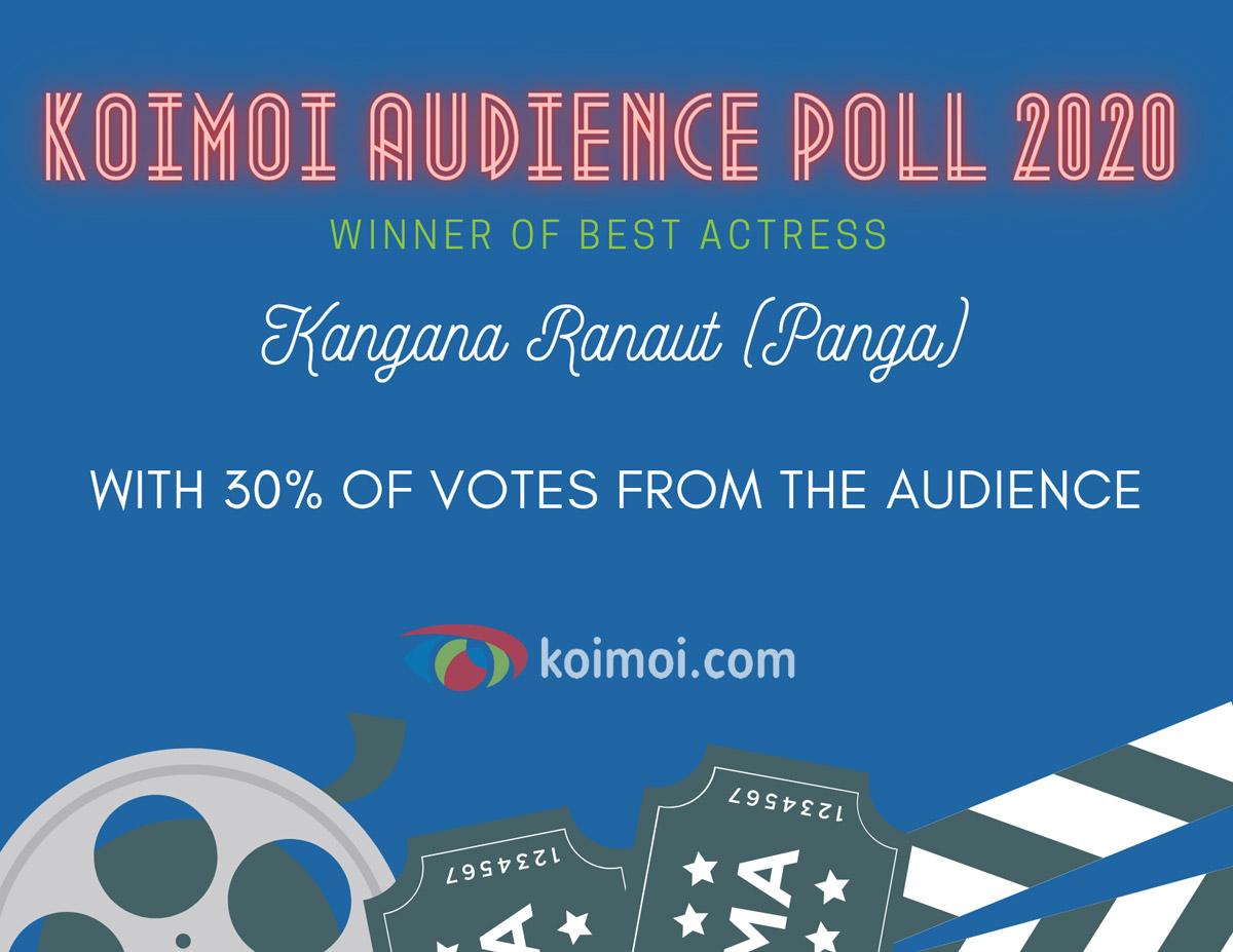 Result Of Koimoi Audience Poll 2020: Kangana Ranaut