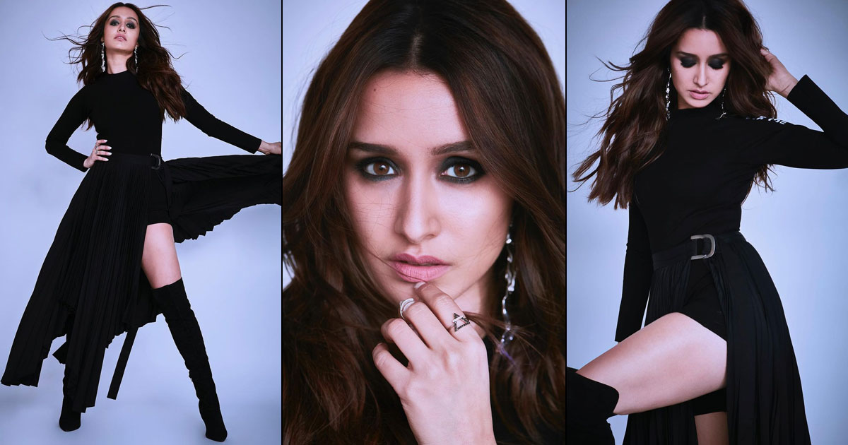 Shraddha Kapoor Raises Temperature In Black Thigh-High Slit Gown