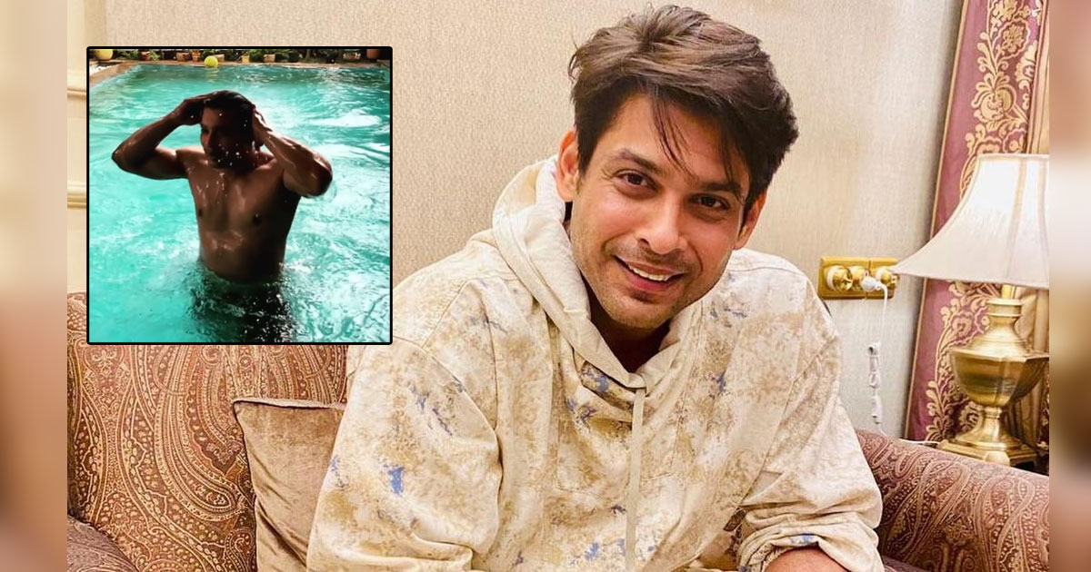 Sidharth Shukla Goes Shirtless As Flaunts His Physique By The Pool!