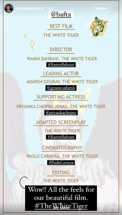 'The White Tiger' on BAFTA longlist in seven categories