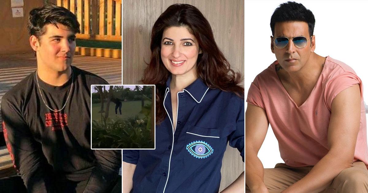 """Twinkle Khanna Has Allegedly Been Possessed By A Demon"", Jokes Her & Akshay Kumar's Son Aarav"