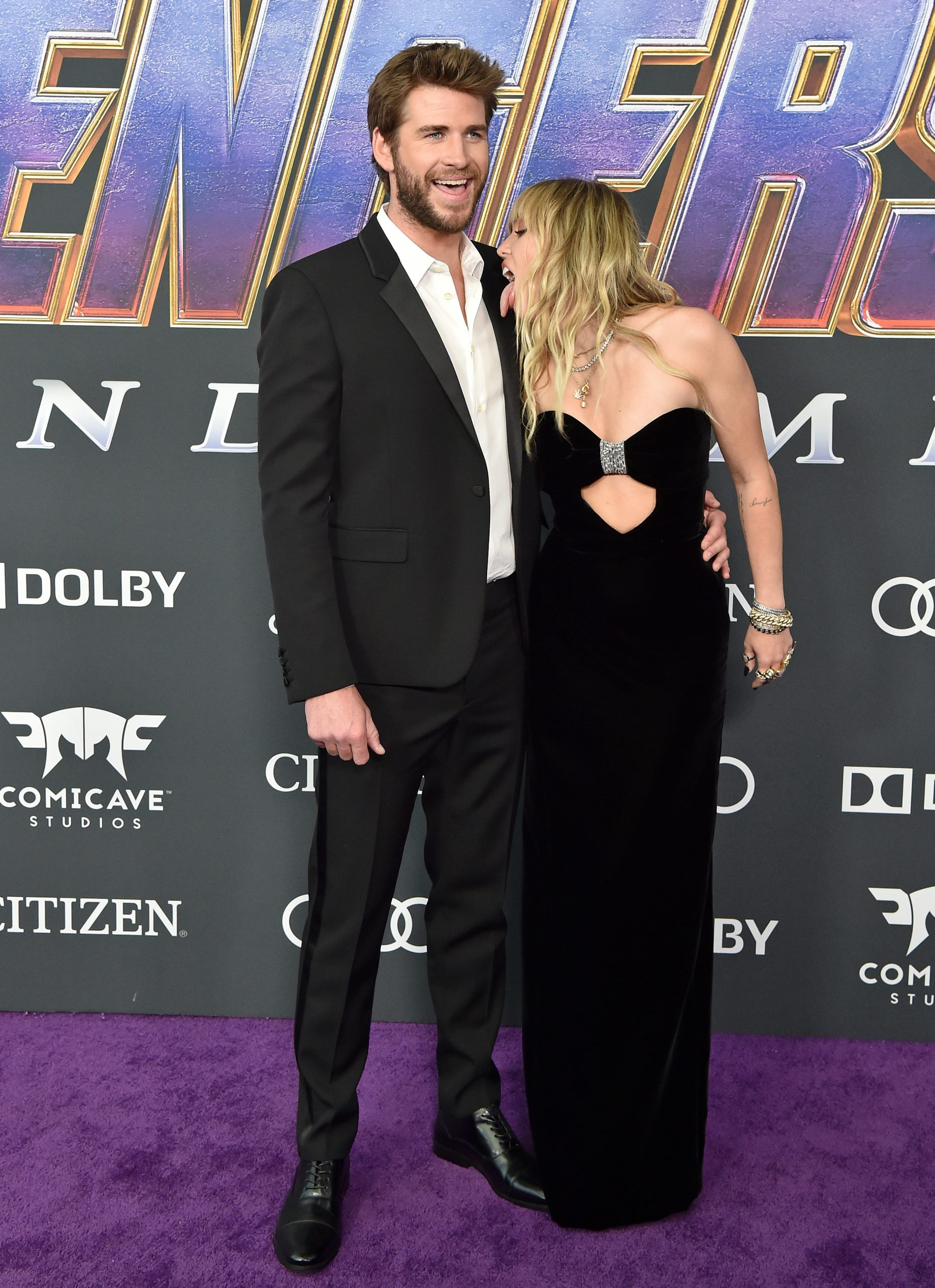 Miley Cyrus & Liam Hemsworth Set Couple Goals On The Red Carpet Of The World Premiere Of Avengers: Endgame