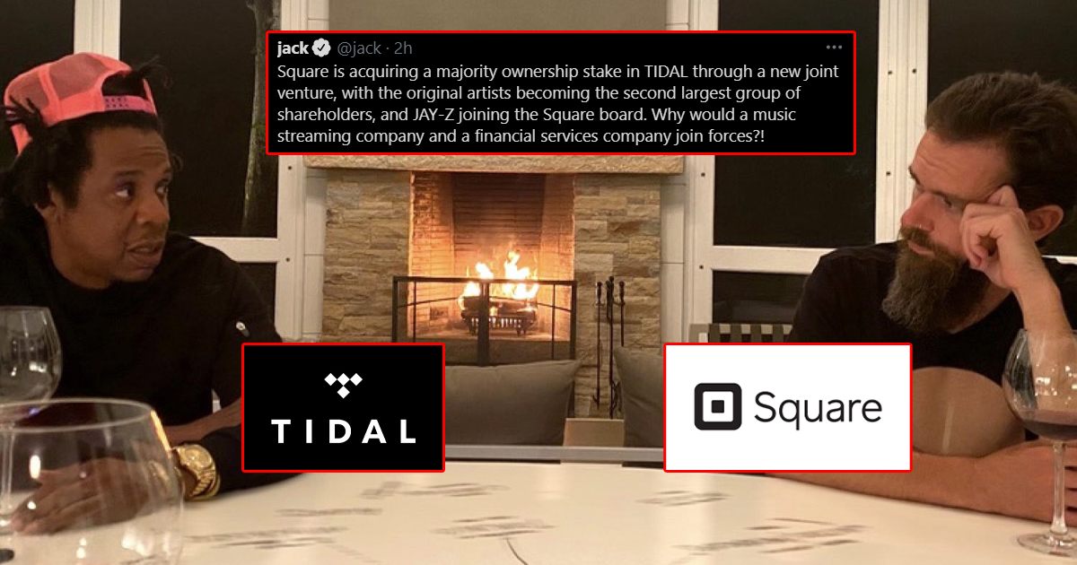 Jay Z Led Tidal Gets $297 Million Richer After Giving Away Majority Stake To Jack Dorsey's Square
