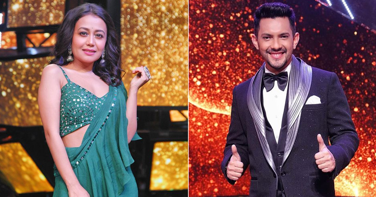 Aditya Narayan & Neha Kakkar Dance Together On Indian Idol 12 Sets