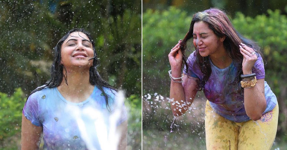 Arshi Khan enjoyed Holi with Goan hues this year