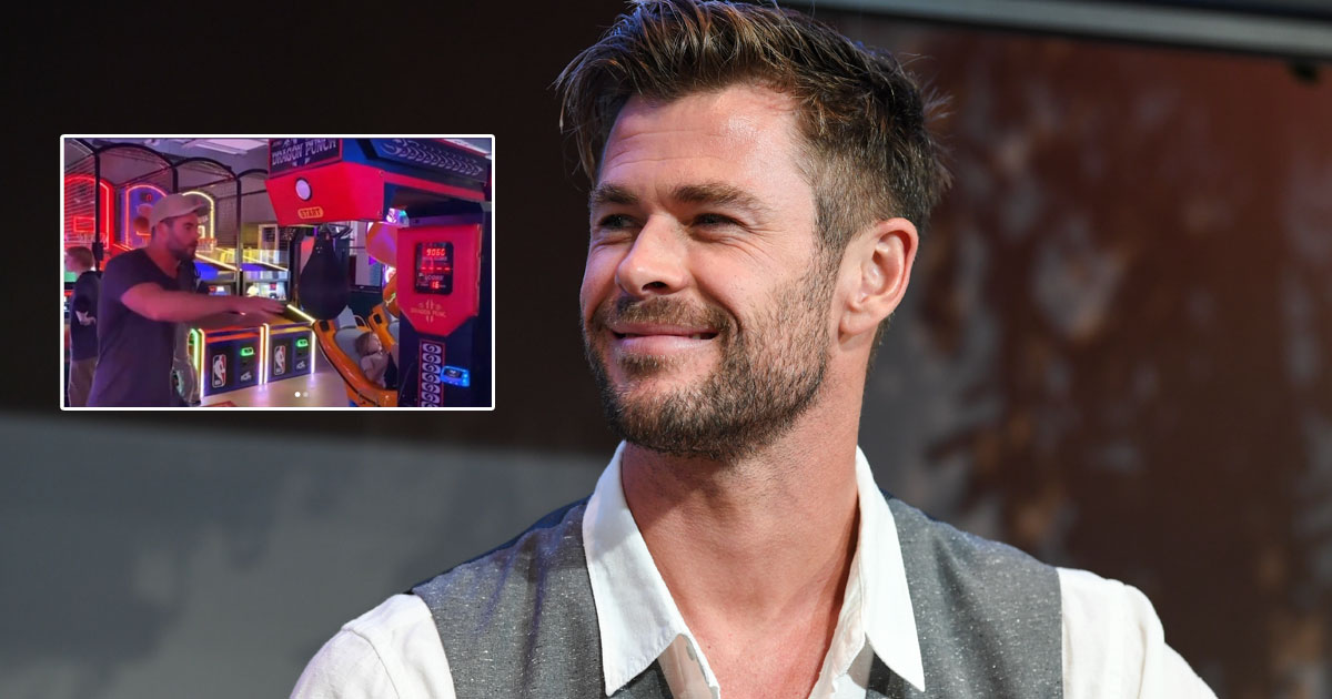 Chris Hemsworth Is Incredibly Strong & These Videos Of Him At An Arcade In Sydney Is Proof