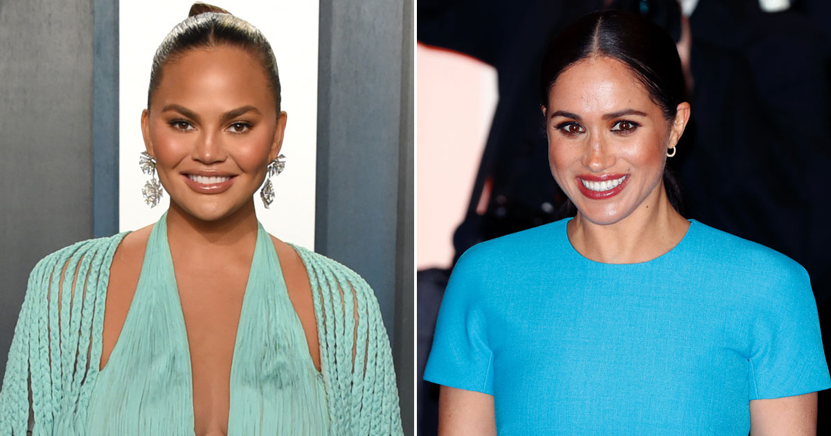 """Chrissy Teigen Slams Media & Stands In Support Of Meghan Markle, Says """"These People Won't Stop Until She Miscarries"""""""