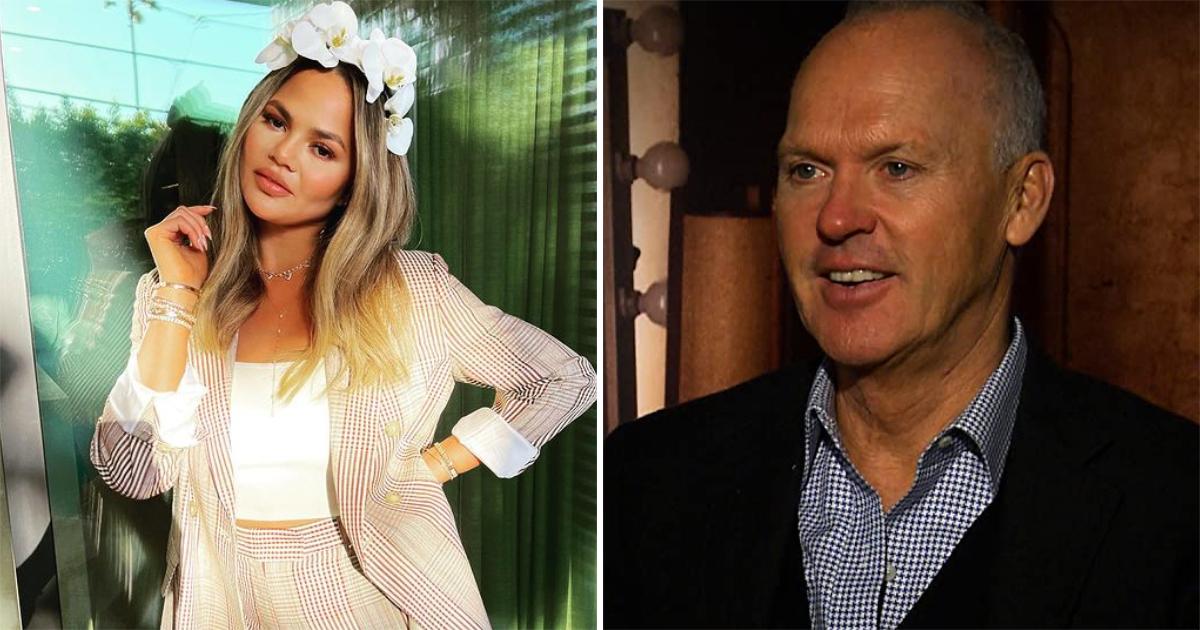 Chrissy Teigen Reveals An Awkward Drunk Story Ft. Michael Keaton Holding A Glass Of Champagne!