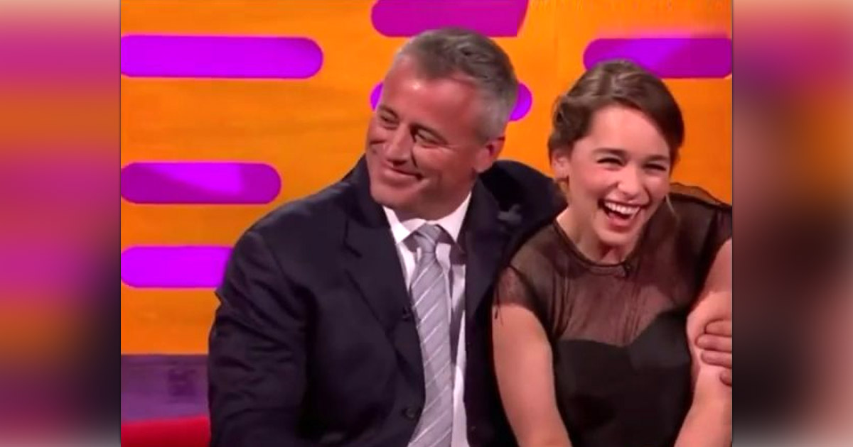 Emilia Clarke Was Totally Fangirling Over Matt LeBlanc At The Graham Norton Show