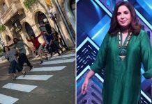 Farah Khan recreates cover of inconic Beatles' album 'Abbey Road'