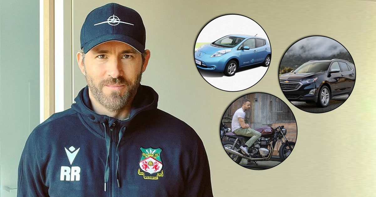 From A Mercedes-Benz 190 SL, Tesla & Nissan Leaf To A Triumph Thruxton & More, Check Out The Classy, Fast & Electric Vehicles Ryan Reynolds Own