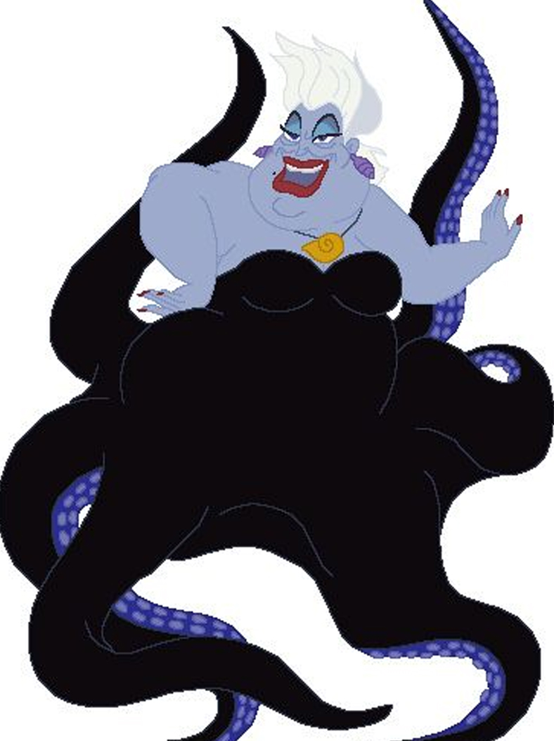 Ursula In A Still From Disney's The Little Mermaid
