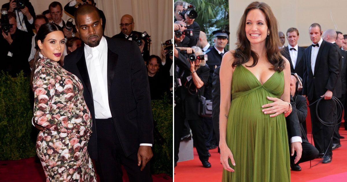 Here's A List Of Divas From Angelina Jolie To Kim Kardashian Who Flaunted Their Baby Bump At Red Carpets In Style