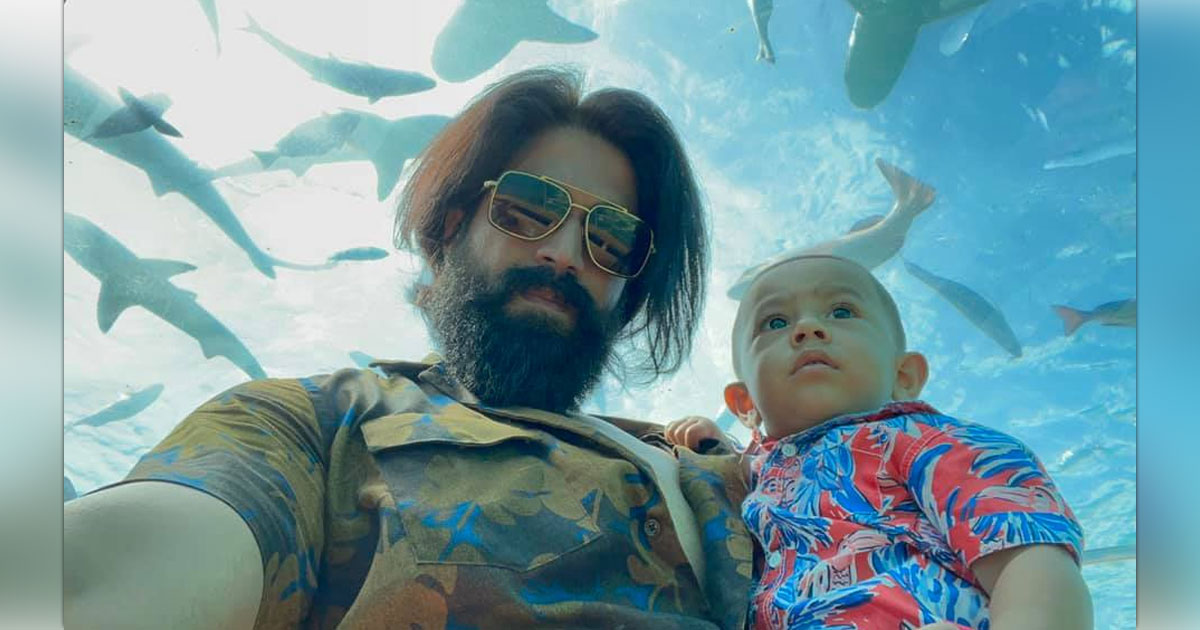 KGF Star Yash's Unfiltered Laugh With His Son Yatharv Is Going Viral
