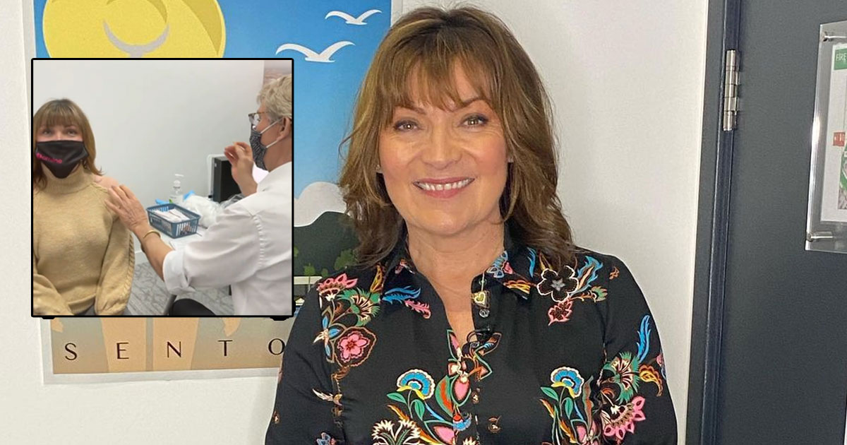 Lorraine Kelly trolled for sharing her Covid vaccine video