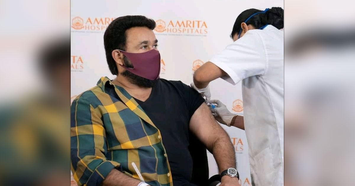 Mohanlal takes 1st jab of Covid vax