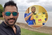MS Dhoni Reveals New CSK Jersey