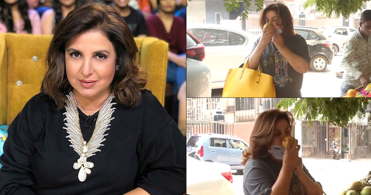 Netizens Call Out Farah Khan For Removing Mask To Smell Mangoes Before Buying At A Fruit Stand