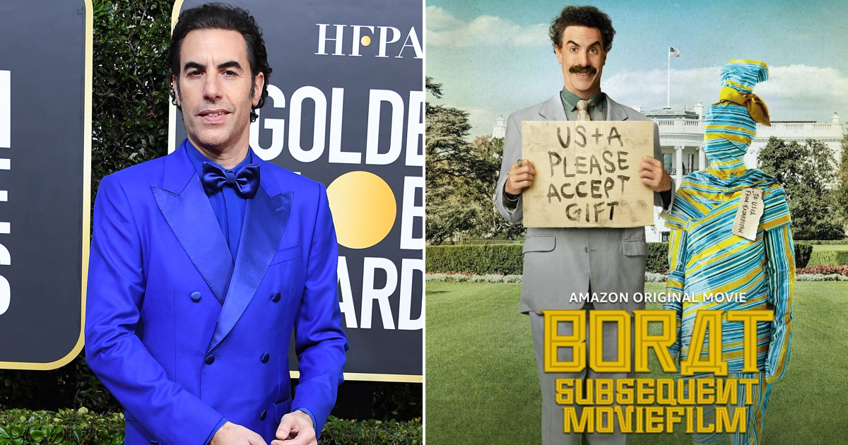 Sacha Baron Cohen Shares 'Borat 2' Globes Wins With Crew Who 'Risked Their Personal Safety, Arrest'