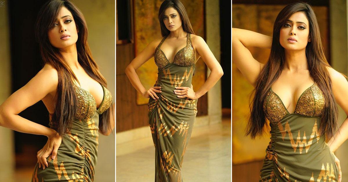Shweta Tiwari Looks Glamorous In A Plunging Neckline Dress