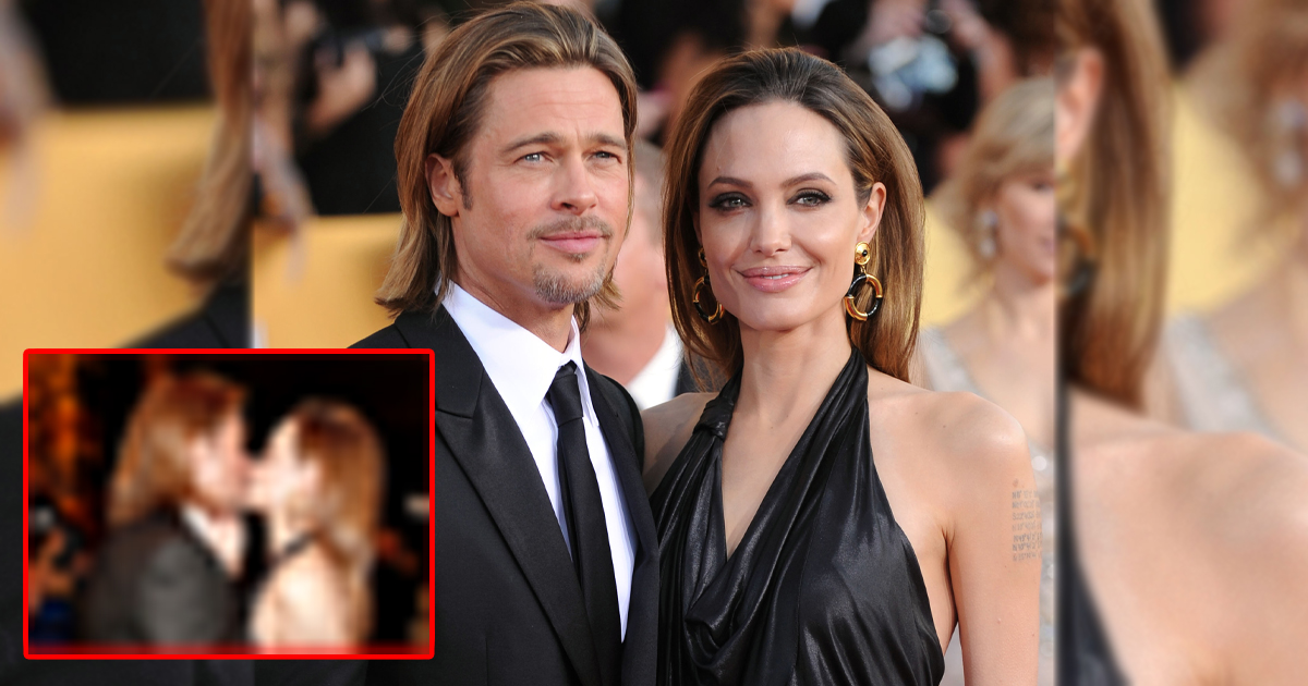 When Angelina Jolie & Brad Pitt Couldn't Keep Their Hands Off Each Other At SAG Awards Leading To A Passionate Kiss