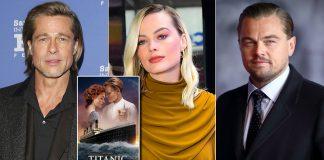 When Brad Pitt & Margot Robbie Joked About Leonardo DiCaprio's Death Scene In Titanic