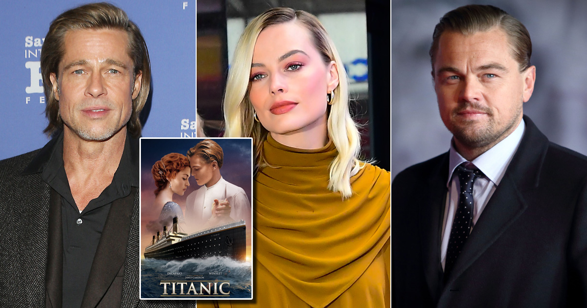 When Brad Pitt & Margot Robbie Joked About Leonardo DiCaprio's Death Scene In Titanic