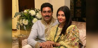 Aishwarya posts anniversary celebration pic, with Abhishek on video call