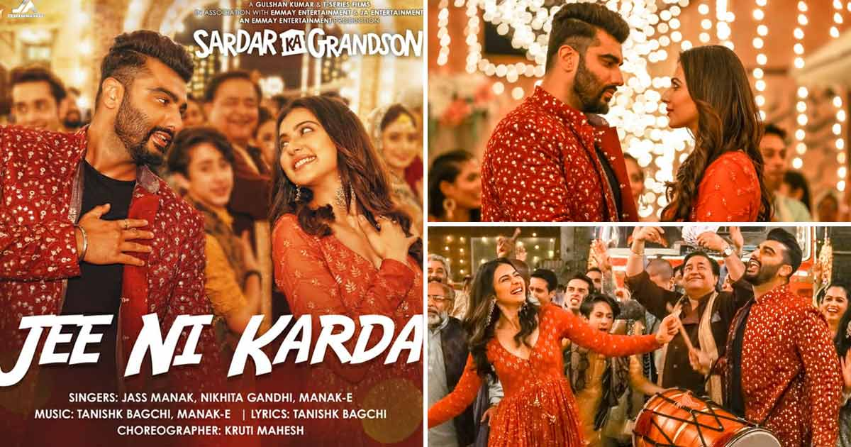 Arjun Kapoor - Rakul Preet Singh Dance To Dhol Beats In Sardar Ka Grandson's First Song 'Jee Ni Karda'