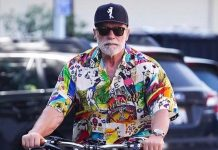 Arnold Schwarzenegger uses his hit movie catchphrases in real life